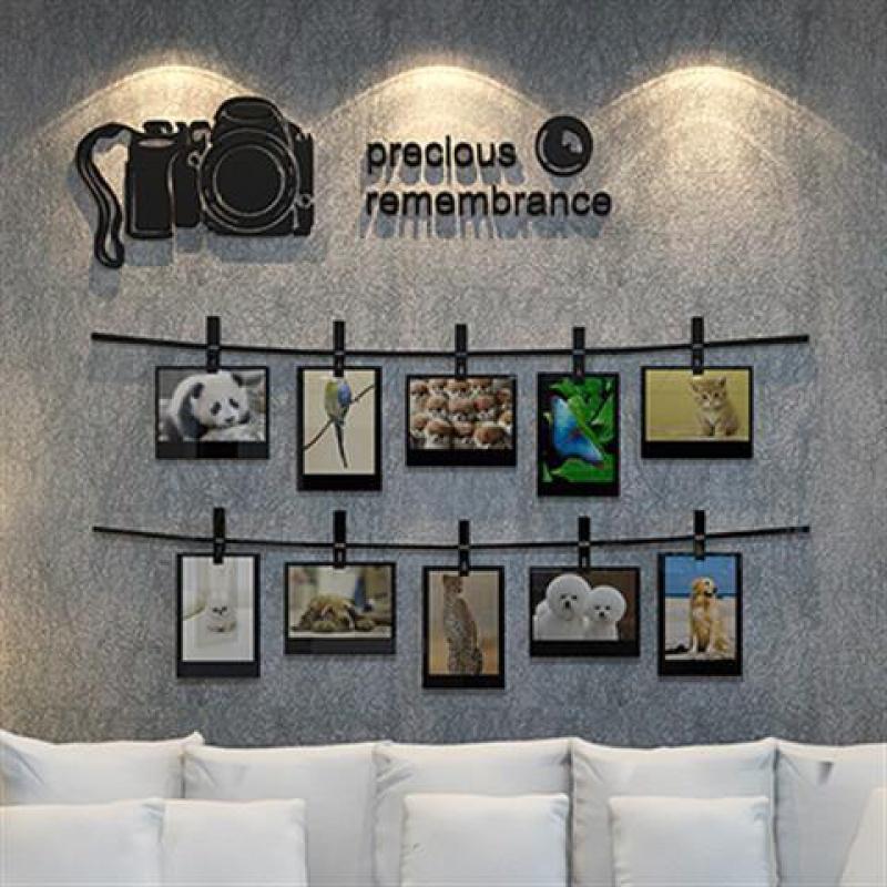 个性创意相框墙贴3d立体亚克力客厅玄关卧室床头背景墙面装饰贴画