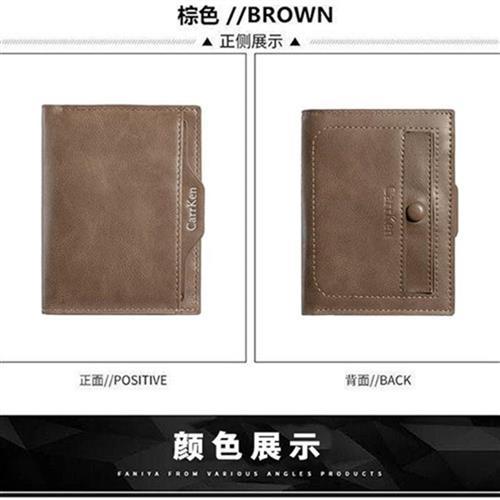 2021 new mens wallet short double sided simple retro mens l folding wallet zero wallet drivers license
