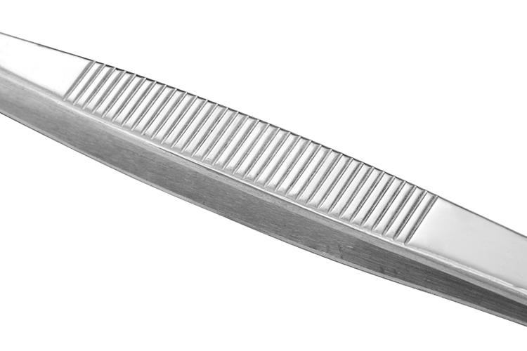 304不锈钢镊子止血加硬圆头拔火罐夹子钳子眼科加厚捏子。