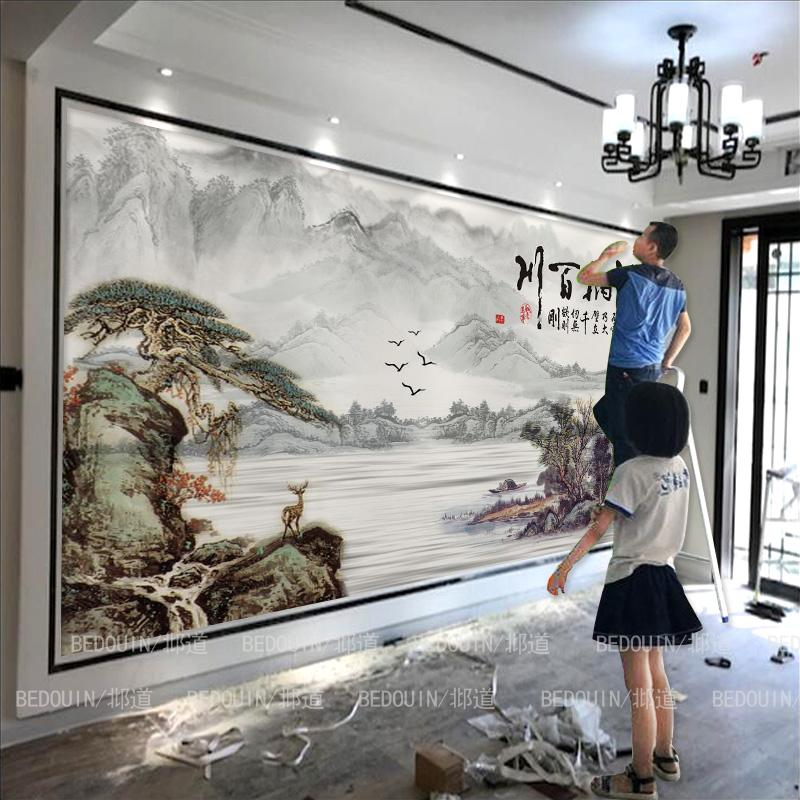 电视背景墙壁画5d立体细节怎么样
