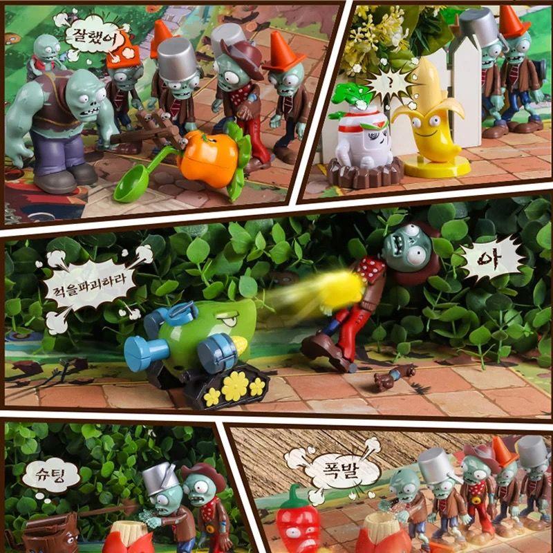 植物大战僵尸玩具全套可发射子弹软胶玩具礼物男孩【正版送豪礼】