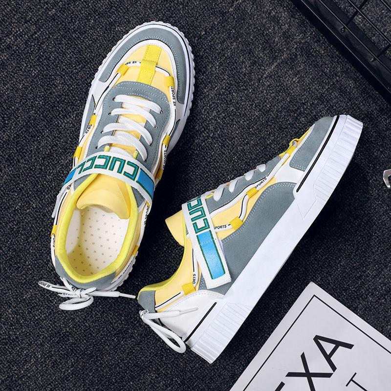2021年新款春季男士休闲鞋男运动板鞋男韩版潮流男鞋百搭学生鞋子