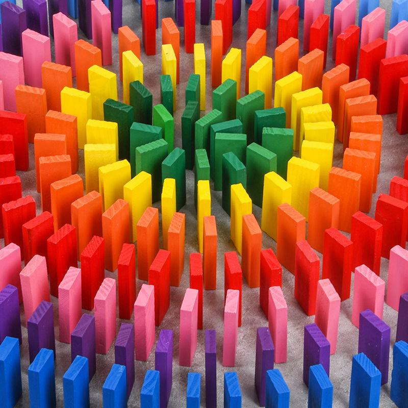 机关多米诺骨牌儿童益智玩具小学生成人男女孩比赛专用1000片积木