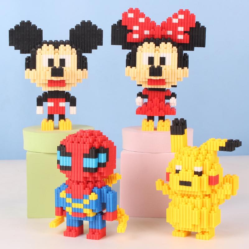 积木拼装玩具男孩子女孩系列拼图高难度微型小颗粒成年人立体乐高