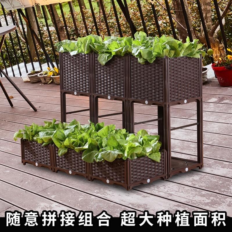 花园家用塑料种菜盆中号长方形阳光房门店奶茶店火锅店旅社公寓