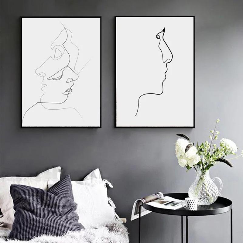 北欧现代简约拍照背景墙客厅装饰画
