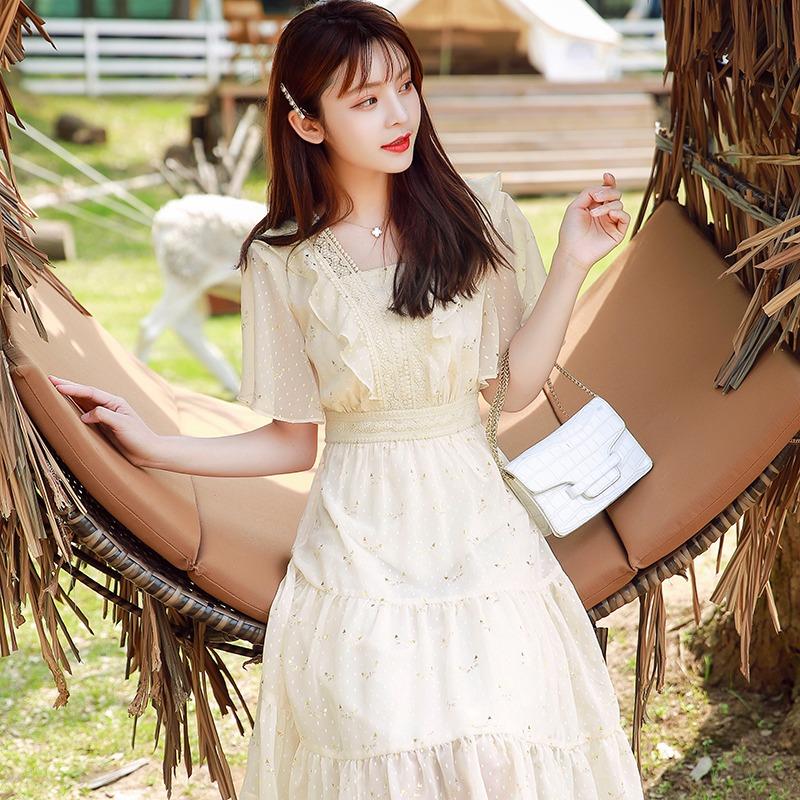 茶歇温柔仙女2021夏季新款连衣裙