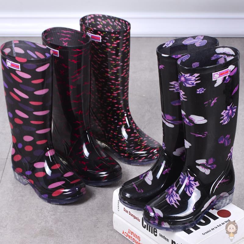 水鞋女雨靴长筒女士雨鞋夏季夏天防水时尚防滑中高筒胶鞋女式胶靴