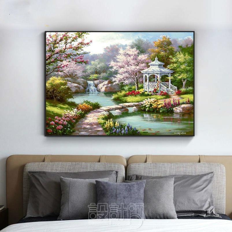 中國代購 中國批發-ibuy99 壁画 美式风景卧室床头壁画房间布置温馨装饰画单幅欧式主卧室内挂墙画