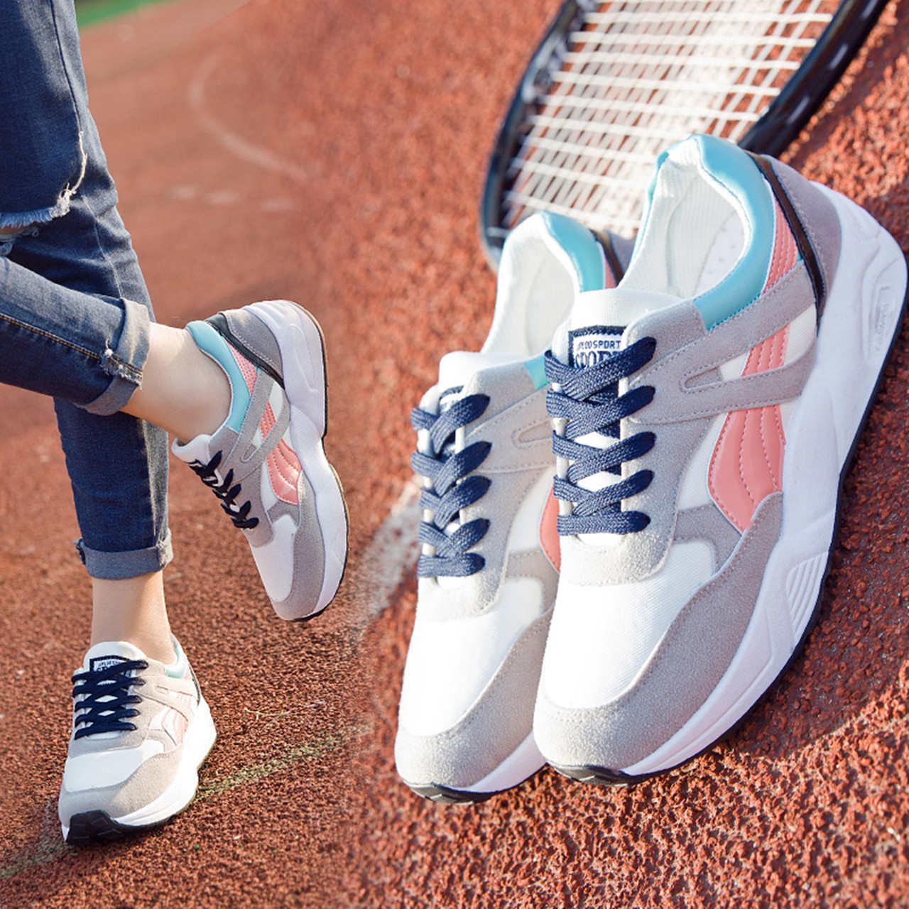 Ins спортивной обуви женщина корейский харадзюку ulzzang зима 2017 новая девушка обувной дикий плюс бархат превышать пожар туфли