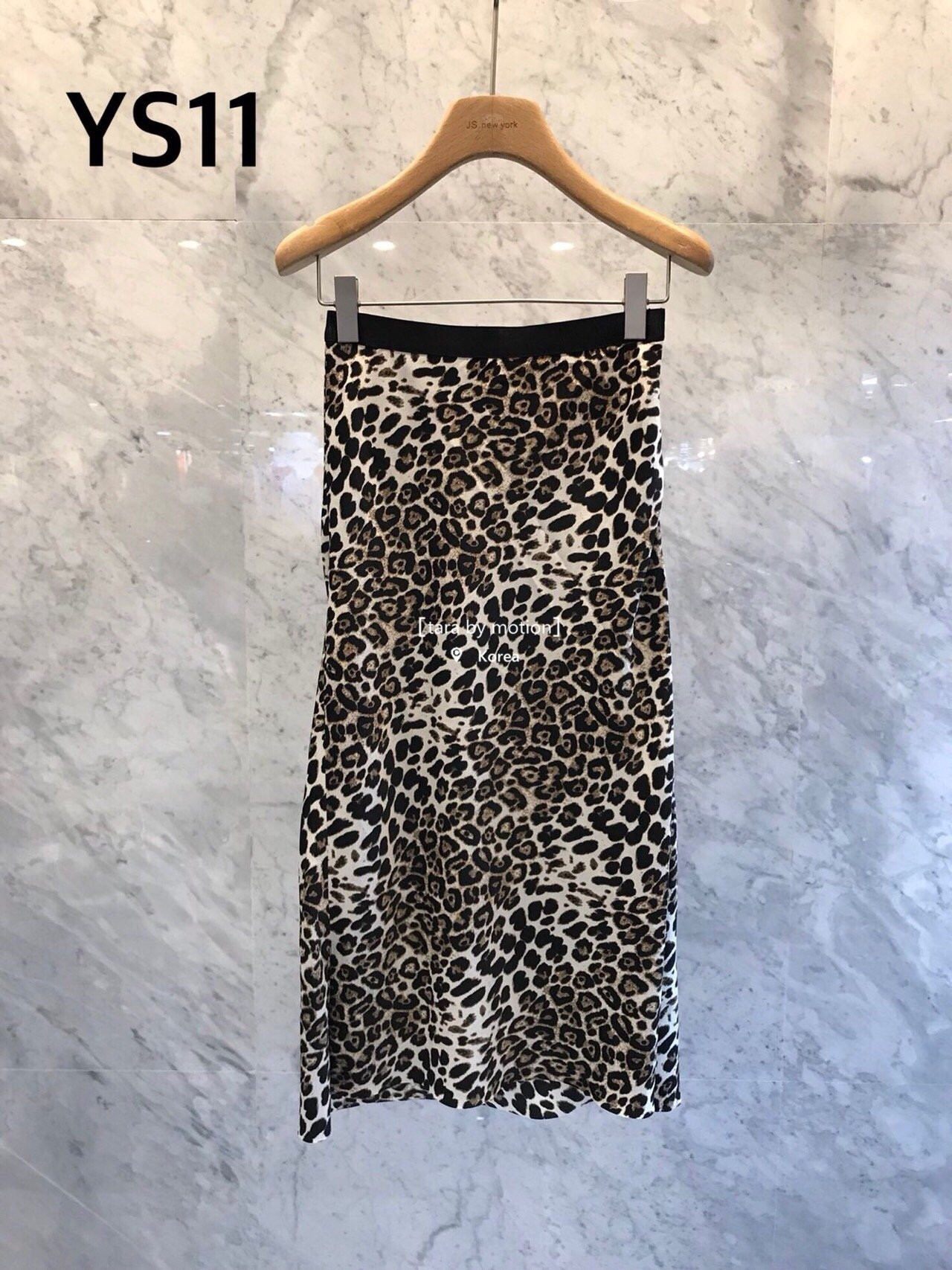 JS NEW YORK 系列 韩国女装 秋 侧开叉时尚流行豹纹长裙半身裙910