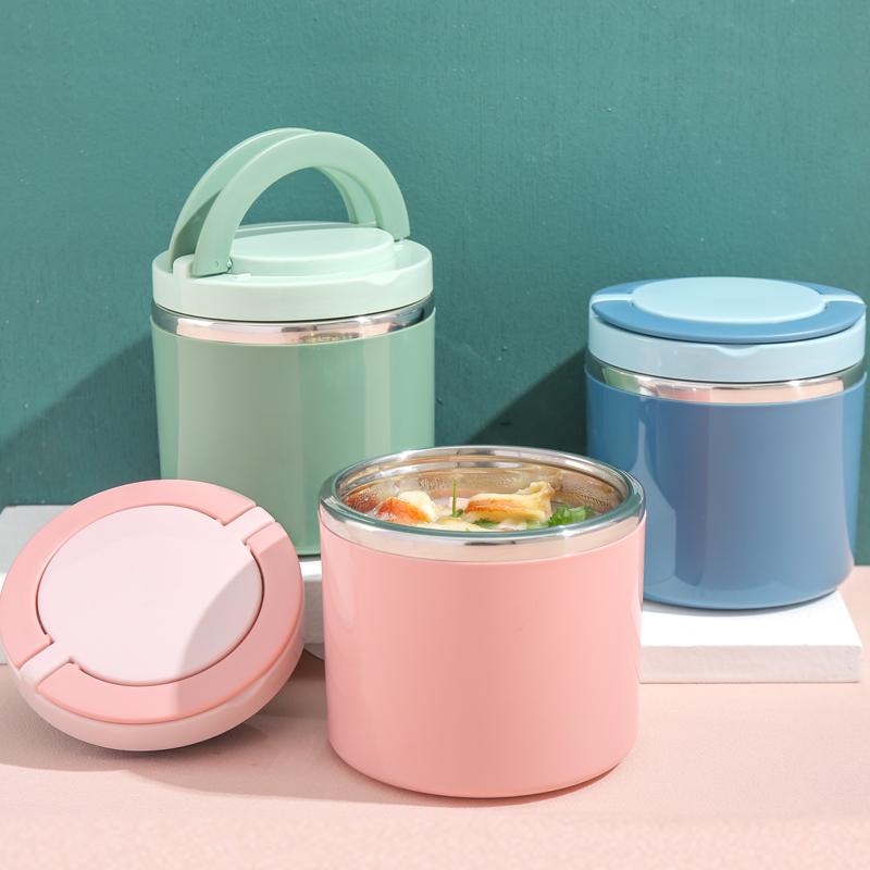 餐杯汤壶饭盒汤早保温不锈钢粥北欧桶便携密封汤装单人带杯手提杯