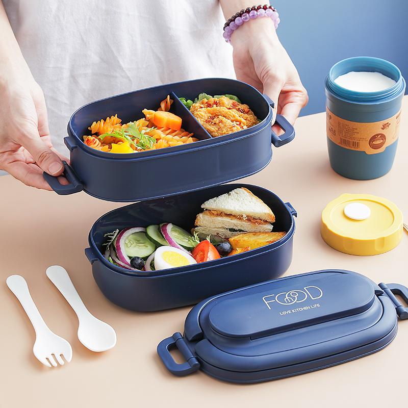 一人食网红饭盒儿童饭盒小学生轻食三明治便当盒午餐盒ins饭盒