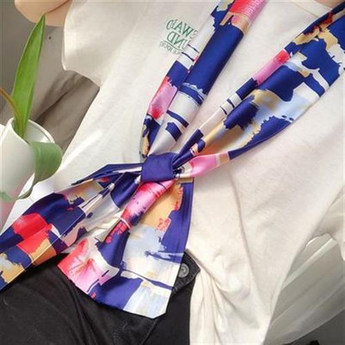 Korean new jewelry silk scarf necklace pendant spring and summer clothing Decoration pendant hair accessories scarf bust neckline decoration