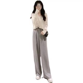 早秋季新款女装套装小个子搭配网红2021年春秋款时尚职业两件套潮