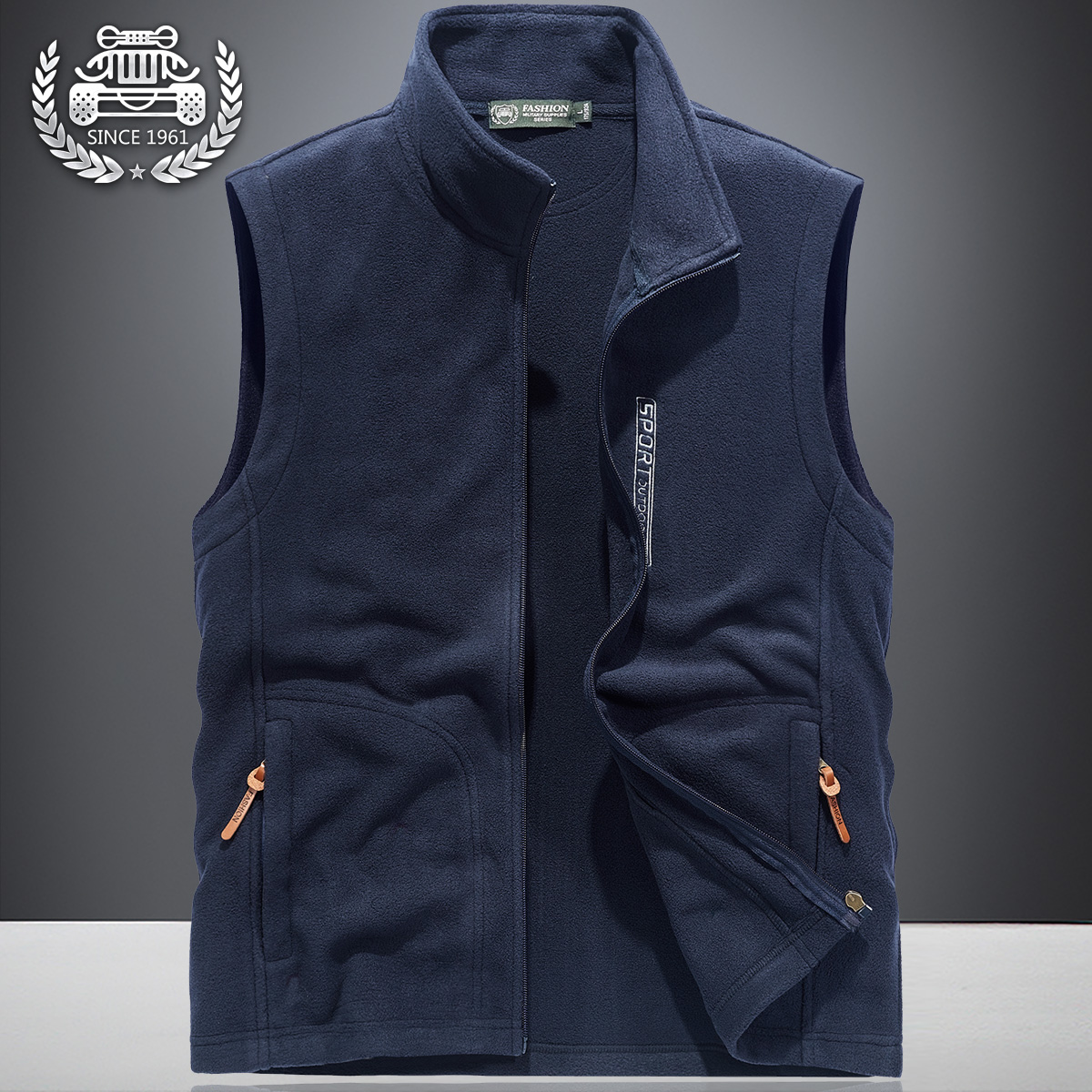 Spring outdoor vest men's thin Fleece Jacket Large loose waistcoat spring and autumn leisure sports coat