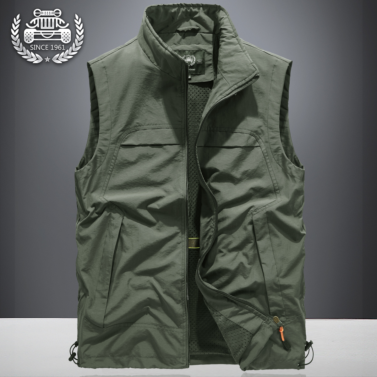 Spring 2020 vest men's thin plus size loose Vest Jacket spring and autumn outdoor mountaineering shoulder coat