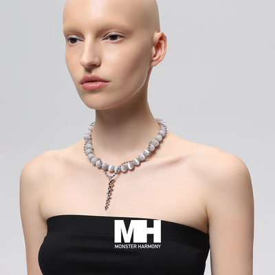 MonsterHarmony original niche design opal clavicle chain light luxury fashion personality necklace