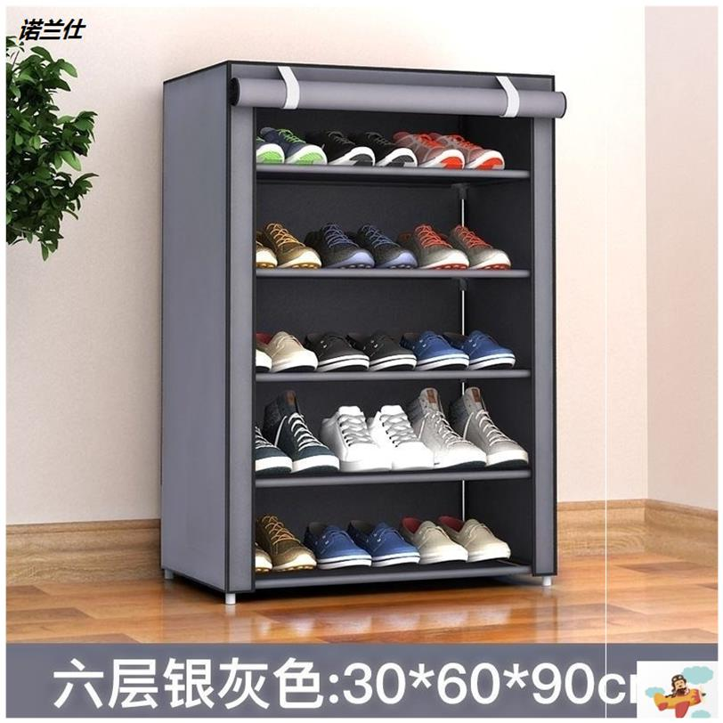 。 Shoe rack dust Oxford canvas dormitory shoe cabinet simple fabric thickened cover coat wardrobe cloth cover household