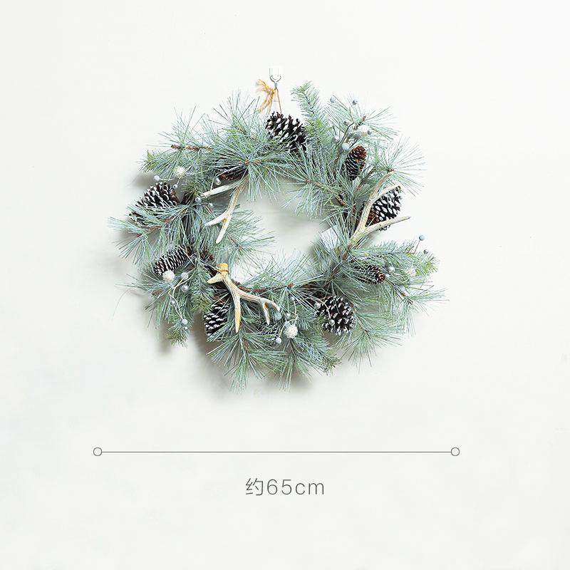 件橱窗装饰饰品布置摆藤条圣诞场景挂花环圣诞节圣诞节门装饰花环