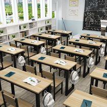 课桌椅桌凳学校书法桌中小学生画室美术班中学生写字台彩色补课