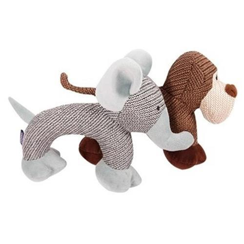 Bora Teddy dog toy pet sound bite resistant Plush play g cat and dog training molar bite resistant teeth cleaning
