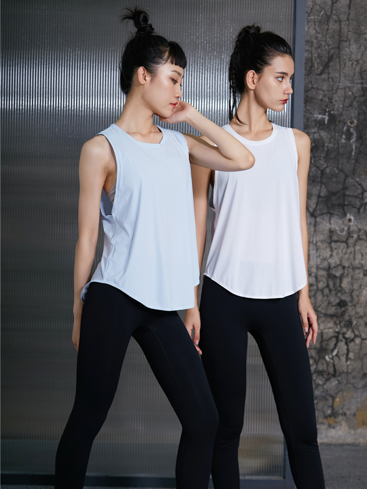 W4n5 loose fit vest womens quick drying sleeveless loose Sports Top breathable blouse T-shirt Yoga suit summer