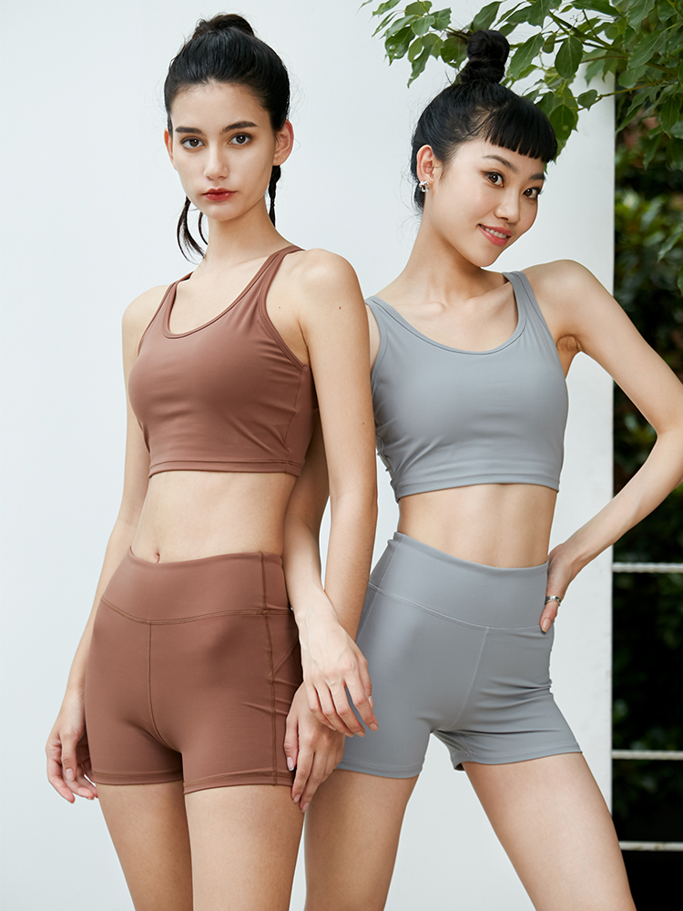W4N5身翘臀防走光运动休闲背心短裤修身瑜伽健身服运动服套装女