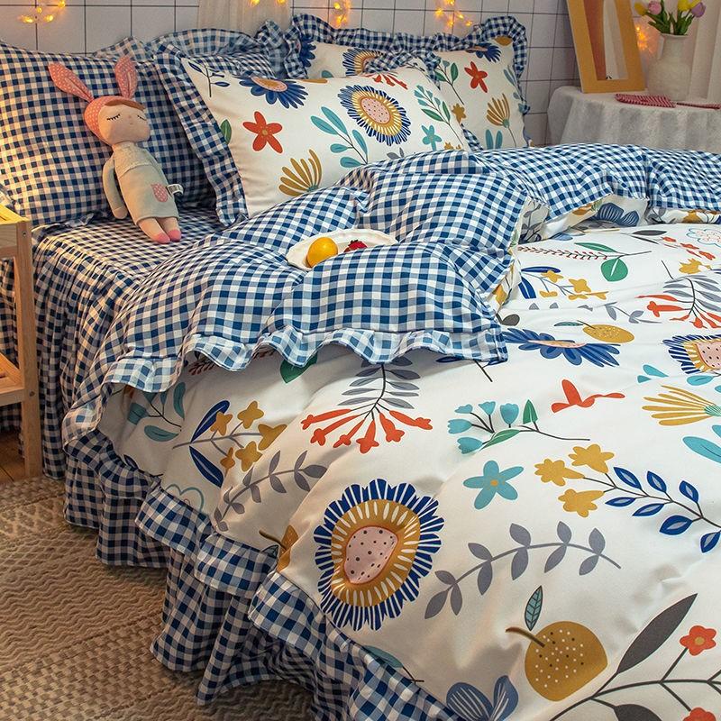 中國代購|中國批發-ibuy99|床上用品|品牌ins%厚床裙四件套公主风亲肤床单被套三件套磨毛床上用品