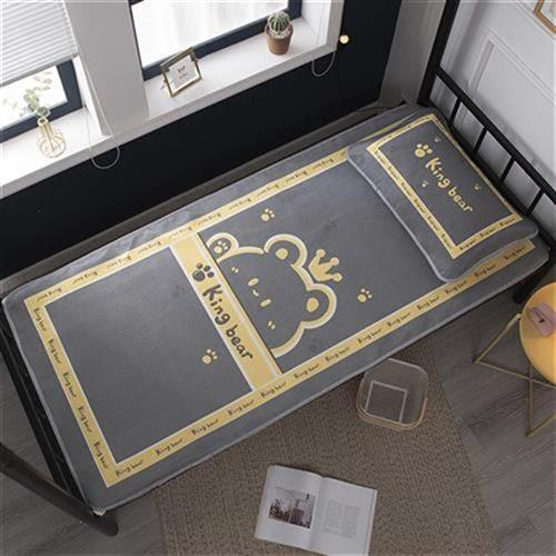 A ice silk cooling mat can be washed, f folding soft mat summer mat straw mat i90cm student dormitory single family