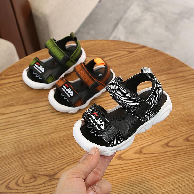 热销6件五折促销2019夏季宝宝凉鞋1-3岁男童鞋软底防滑轻便儿童凉鞋女童沙滩鞋子