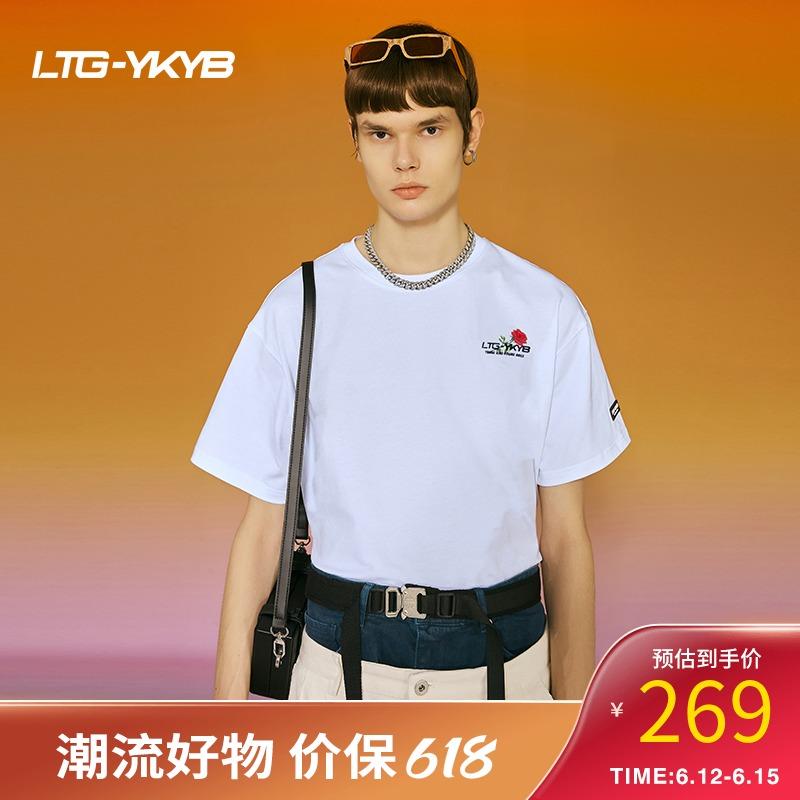 【薇娅推荐】ykyb短袖t恤女薄款夏2021新款设计感小众纯棉男女款