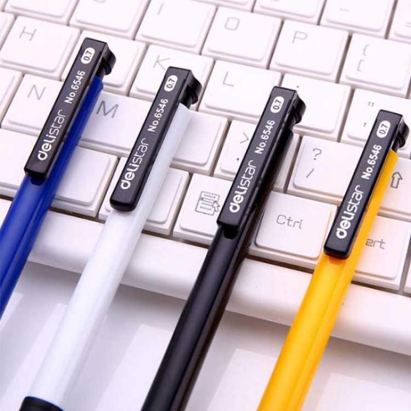 中國代購 中國批發-ibuy99 圆珠笔 得力圆珠笔0.7mm按动式伸缩学生办公油笔蓝色笔芯原子笔批发36支