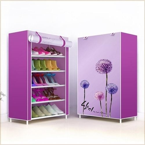 Shelf simple capacity layer household shoes large canvas w shoe rack cabinet with dustproof Oxford wide childrens dormitory cloth cover large