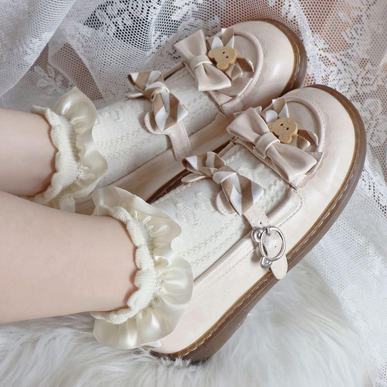 中國代購|中國批發-ibuy99|袜子|白色蕾丝袜短筒配jk制服的袜子日系花边夏季薄款制服春秋ins潮