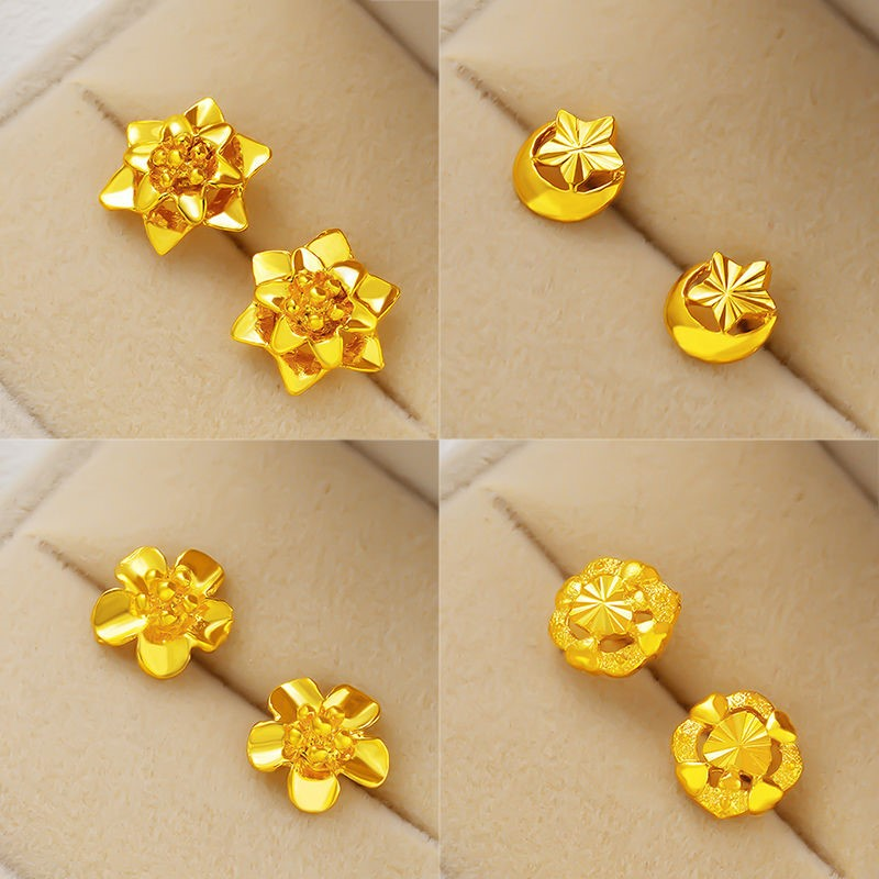Classic gold plated earrings womens gold earrings Vietnam Shajin Earrings New 2021 womens jewelry