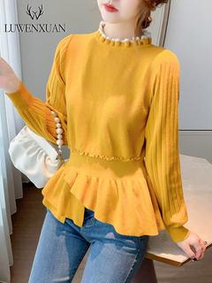 日系毛衣女秋冬宽松外穿2020年新款女装秋季收腰上衣服针织打底衫