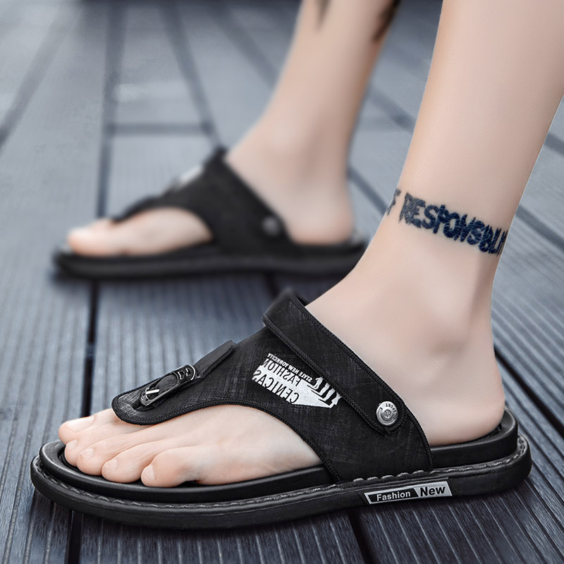 男士拖鞋外穿ins潮夏季防滑沙滩运动休闲凉鞋越南夹脚防臭人字拖