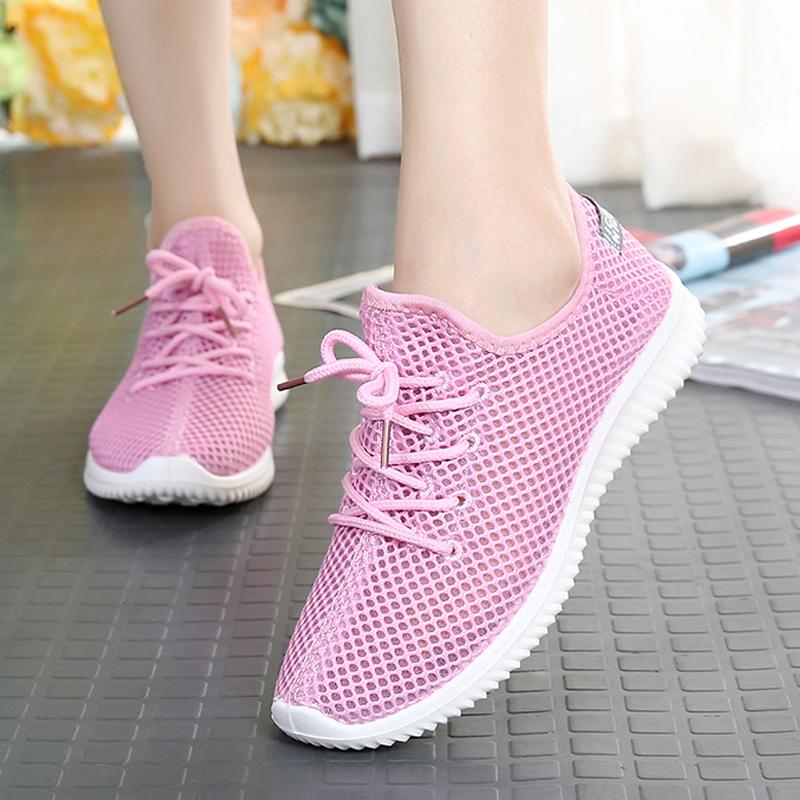 夏季网面透气网鞋女学生跑步运动鞋网布休闲鞋软底老北京布鞋女鞋