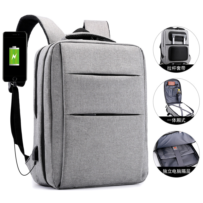 Cross border creative computer backpack business leisure multifunctional 15.6-inch notebook customization