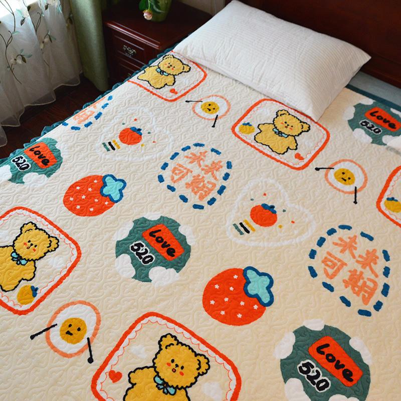 ベッドカバー金糸絨毯アニメ厚いrサンゴ絨毯滑り止めマット冬季キルティングミルク毛布シーツ毛