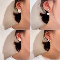 2021新款韩国东大门网红款耳钉高级感气质王子文同款设计感耳饰女