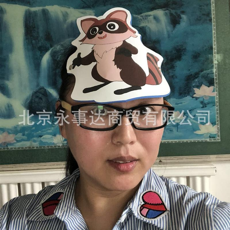 Kindergarten teaching supplies childrens stage performance props game role play animal V insect chicken head decoration