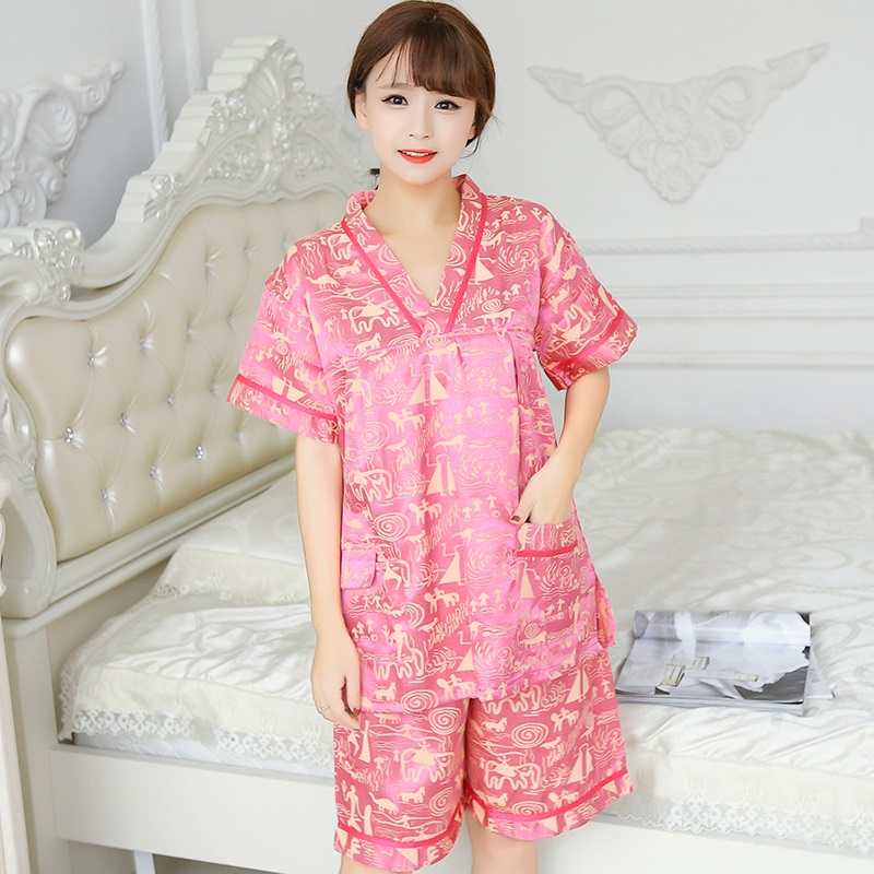 Large size cotton couple sweat steaming clothes mens and womens bathing clothes sauna foot therapy health massage clothes beauty physiotherapy clothes guest clothes