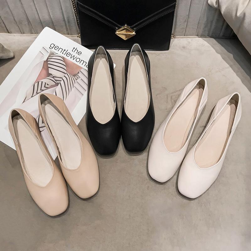 。真皮奶奶鞋女粗跟单鞋仙女温柔中跟高跟鞋2021年鞋子新款夏季女