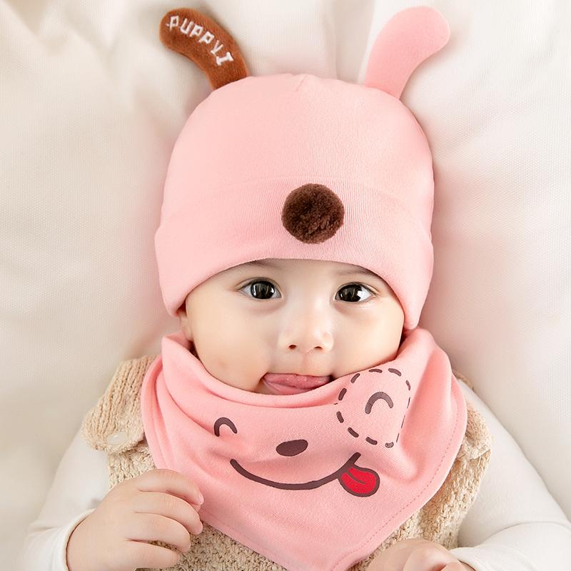 婴儿帽子秋冬婴幼儿男宝宝女童可爱超萌新生儿纯棉胎帽春秋薄款夏