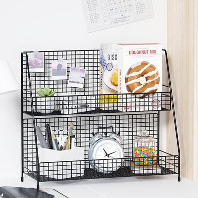 办公桌置物架桌面收纳办公室书桌书D架桌上台面零食储物小架子小