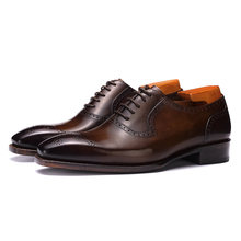 Autumn 2019 New Goodyear Men's Shoes Small Size Lace Business Suit Leather Shoes Groom Marriage Handmade Customized Shoes