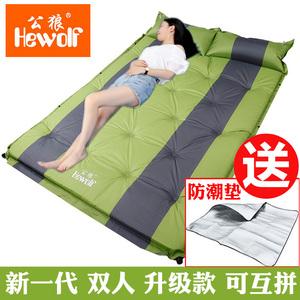 野餐户外防潮垫露营自动充气垫子双人加宽帐篷睡垫三3-4人加厚5cm