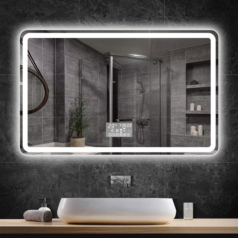 可定制卫生间挂壁镜子浴室智能镜带灯化妆显示触摸屏除雾防爆灯镜